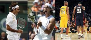 Federer contro Nadal - Kobe contro Lebron - Talento contro potenza