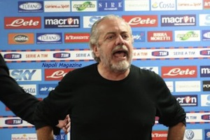 Il presidente del Napoli De Lauretiis