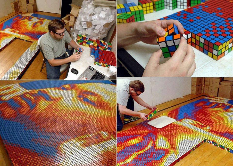 Il Cubo di Rubik usato per disegnare Martin Luther King