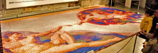 La Creazione di Michelangelo, ricreata con 12090 cubi di Rubik