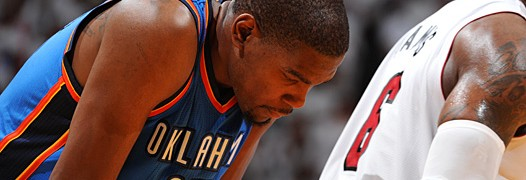 Durant e i Thunder in difficolt