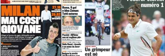 Italia-Francia: quotidiani a confronto