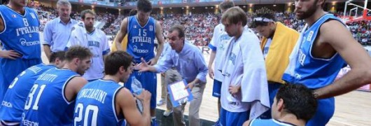 Un timeout durante Turchia-Italia di basket