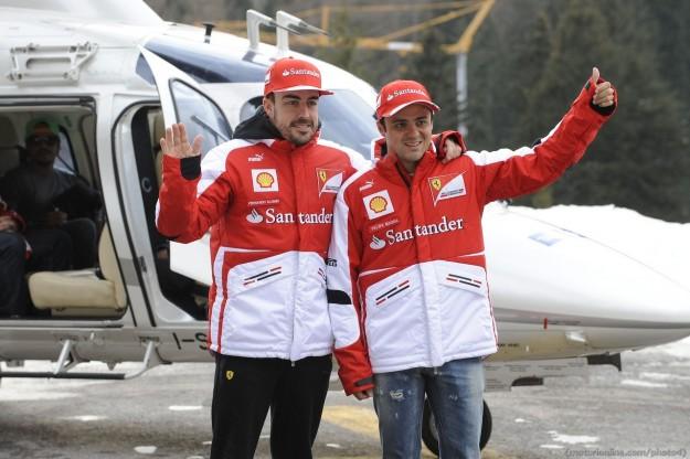 Alonso e Massa a Madonna di Campiglio per Wroom