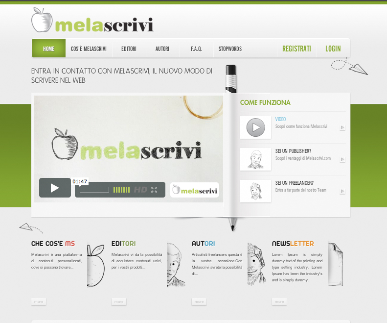La Home Page di Melascrivi