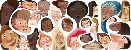 Google Doodle per la Festa della Donna