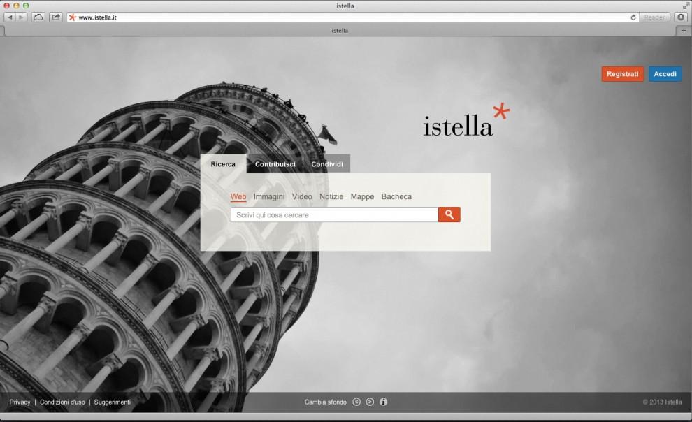 La Home Page di Istella, il motore di ricerca italiano