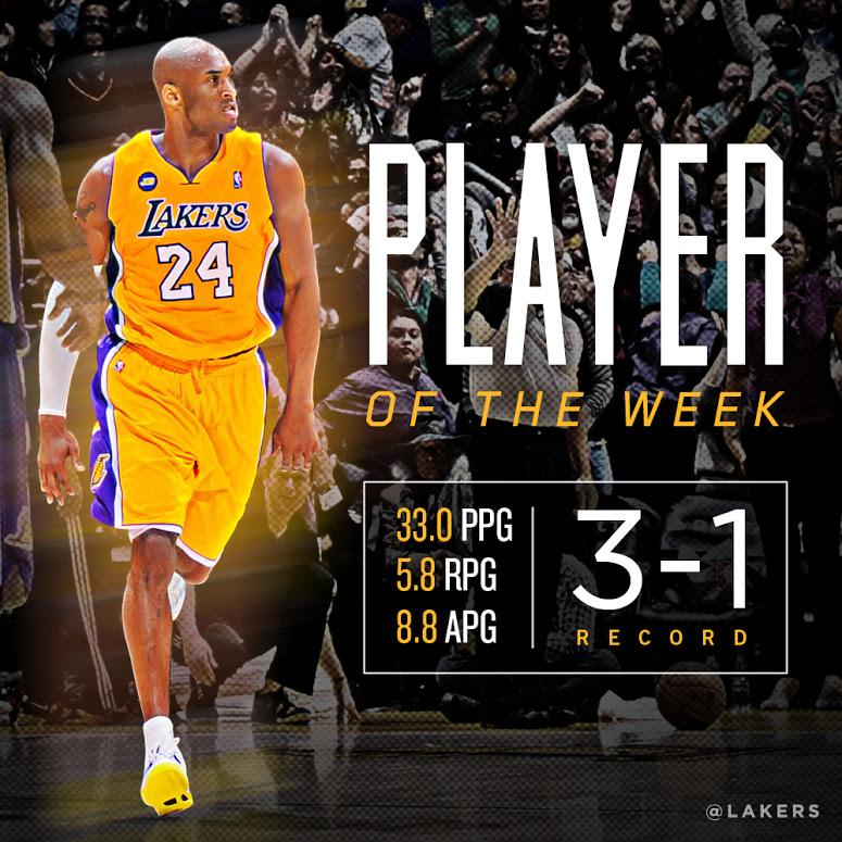 Kobe Bryant player of the week