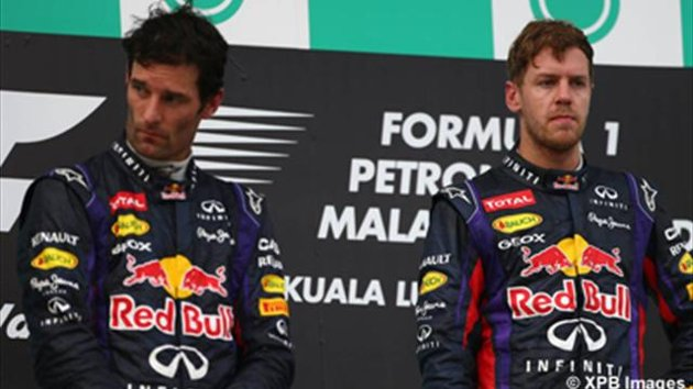 I piloti Red Bull sul podio in Malesia 2013
