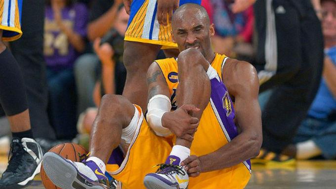Kobe Bryant al momento dell'infortunio