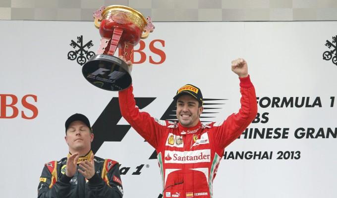 Alonso sul podio nel GP di Cina 2013