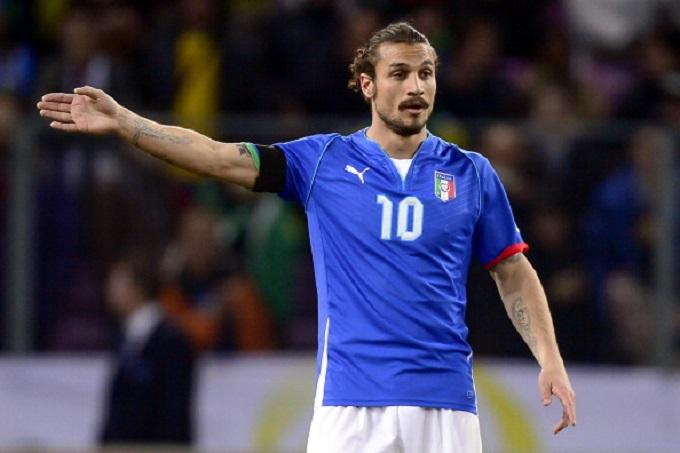 Osvaldo con la maglia dell'Italia