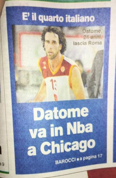 L'errore del Corriere su Datome in NBA