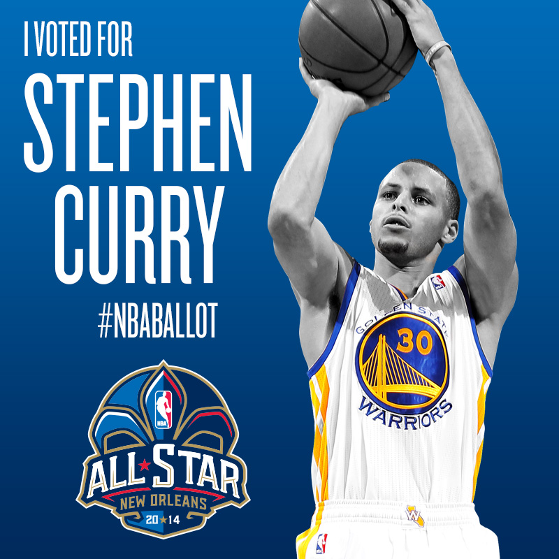 Vota per Stephen Curry - #NBAballot All Star Game 2014