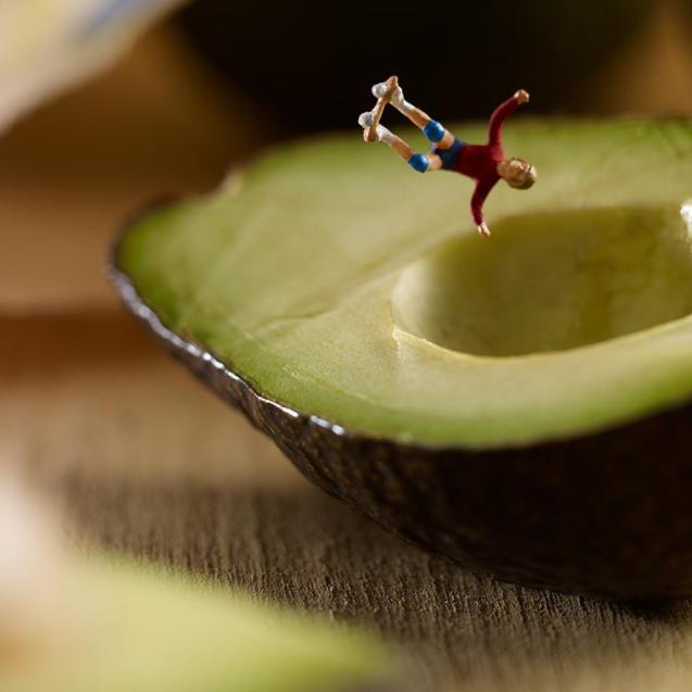 Sketare su un avocado