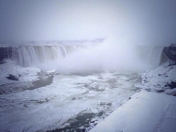Ghiaccio sulle Cascate del Niagara