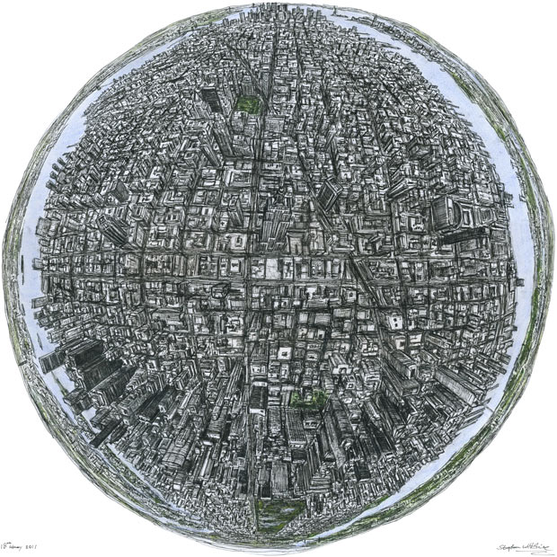 Stephen Wiltshire - New York Globe