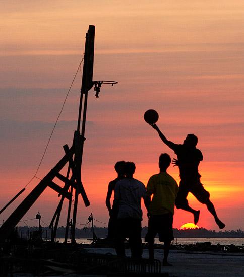Layup al tramonto