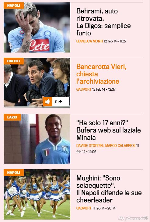 """Ancora """"calcio interessante"""" sulla Gazzetta dello Sport"""
