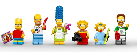 Lego: le minifigures dei Simpson