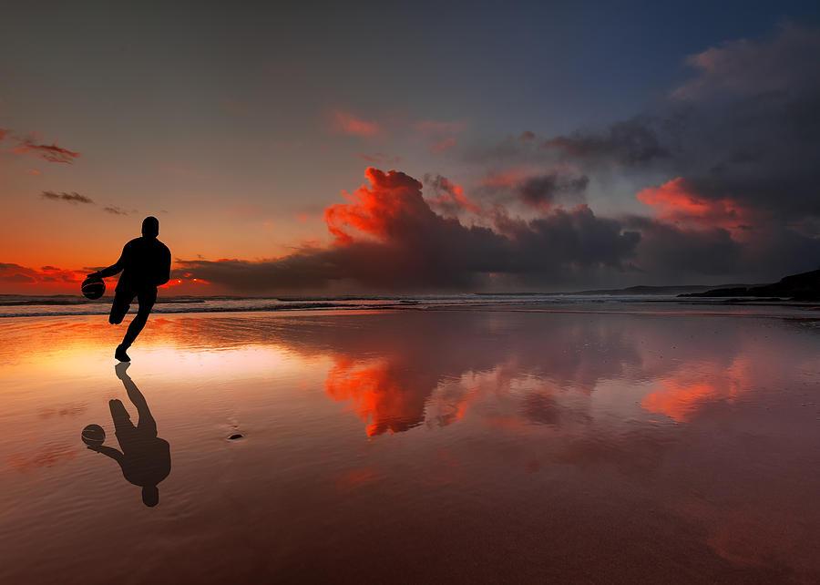 In palleggio al tramonto