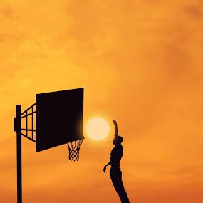 Gancio Cielo al tramonto
