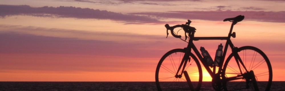 Bicicletta al tramonto