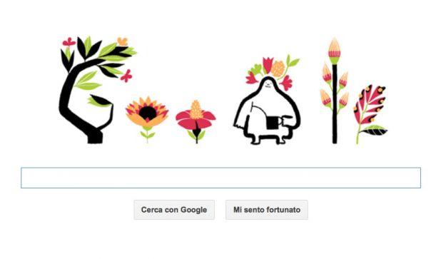 Il Google Doodle ci dice che oggi è Primavera