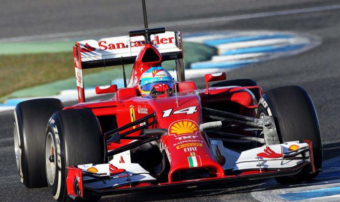 Alonso alla guida della Ferrari F14-T