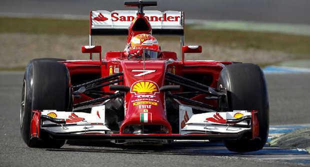 Raikkonen sulla Ferrari F14-T