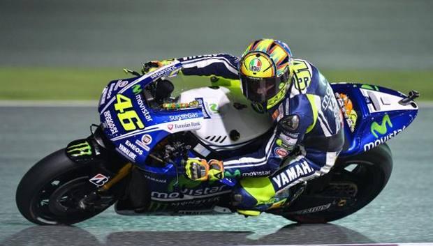 Valentino Rossi 2° in Qatar