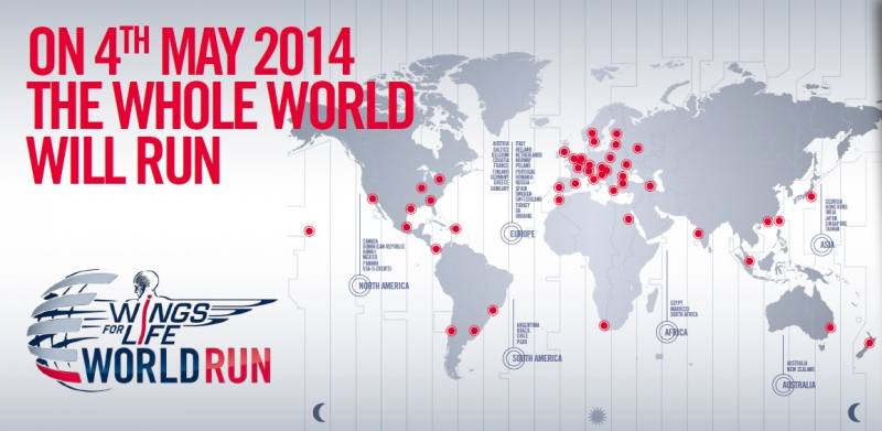 Wings for Life World Run Map