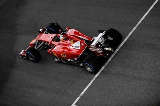 Alonso sulla F14T
