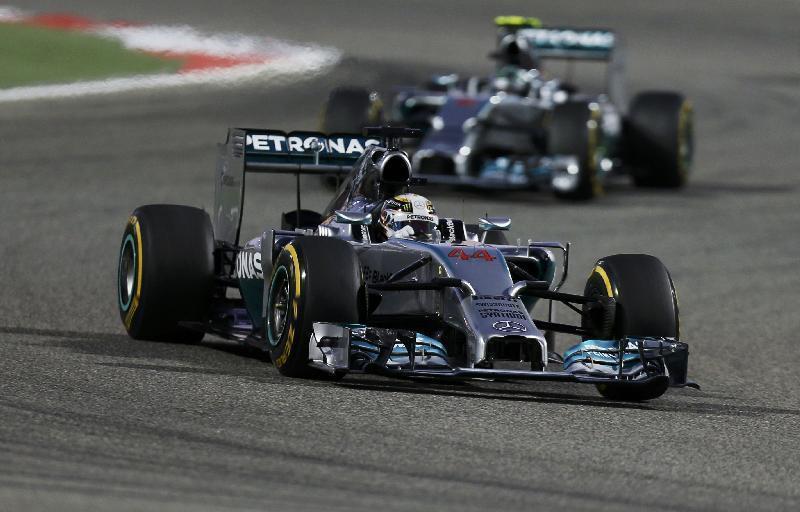 Il duello tra le Mercedes in Baharain