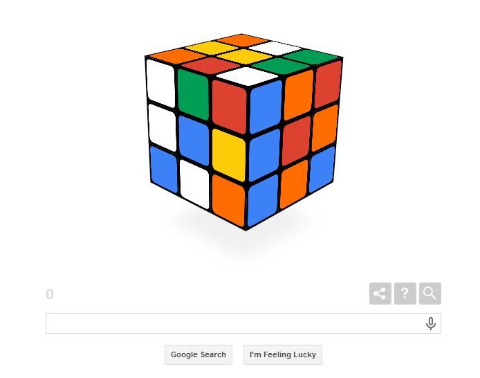 I primi 40 anni del Cubo di Rubik ed il Google Doodle