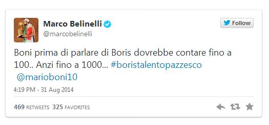 Il tweet di Belinelli contro Mario Boni