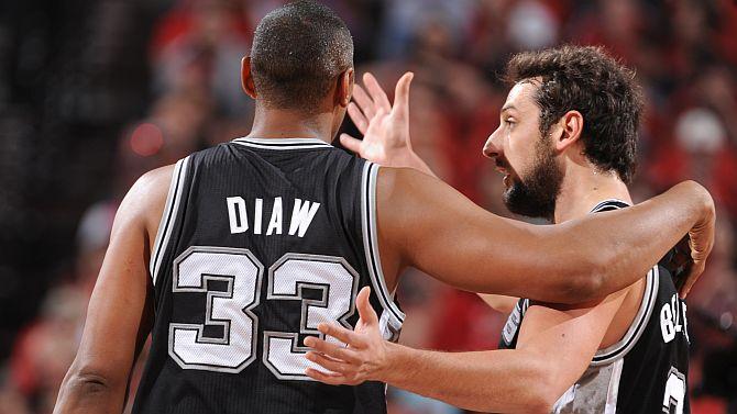 Belinelli e Diaw in maglia Spurs