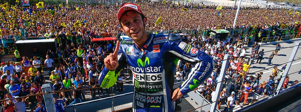Rossi sul podio a Misano Adriatico 2014