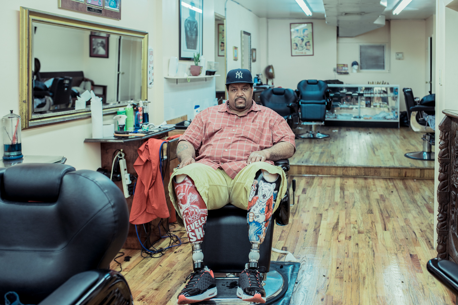 Levels Barbershop Clinton Hill, Brooklyn, 2014 - ​©Franck Bohbot
