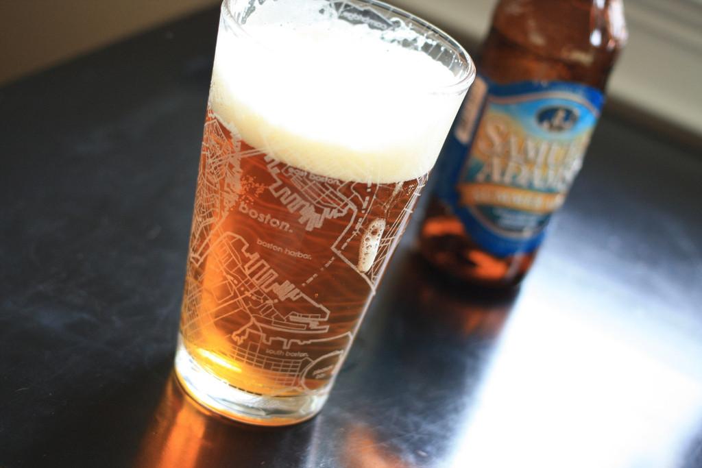 Bicchiere da Birra con la mappa di Boston