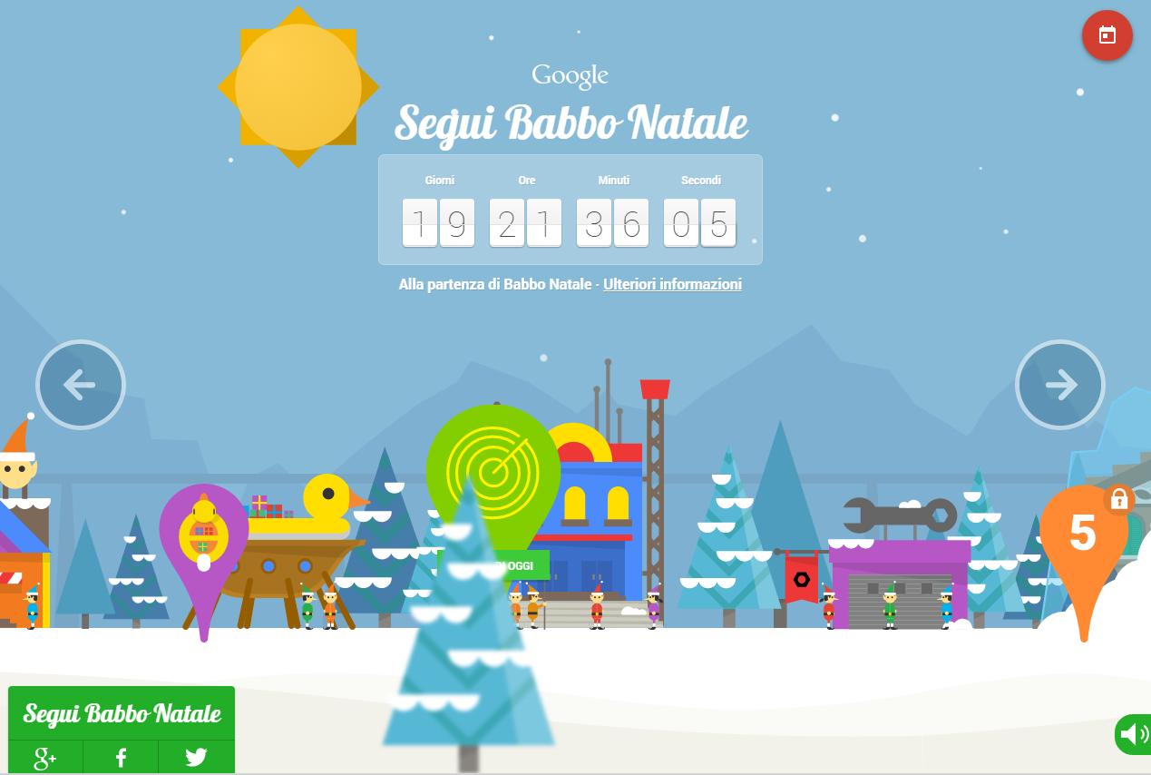 Google Santa Tracker: Segui Babbo Natale con BigG