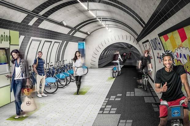 London Underline: così i tunnel della metro abbandonata diventano piste ciclabili
