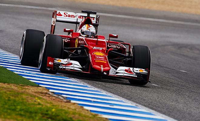 Sebastian Vettel sulla Ferrari F15-T
