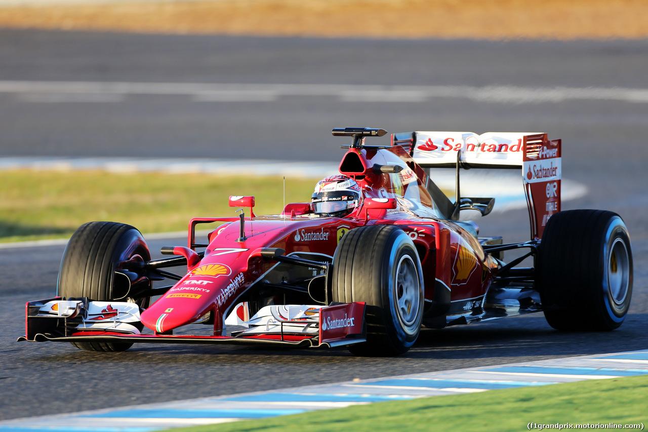 Kimi Raikkonen e la sua Ferrari SF15-T sono i più veloci nei test di Jerez!