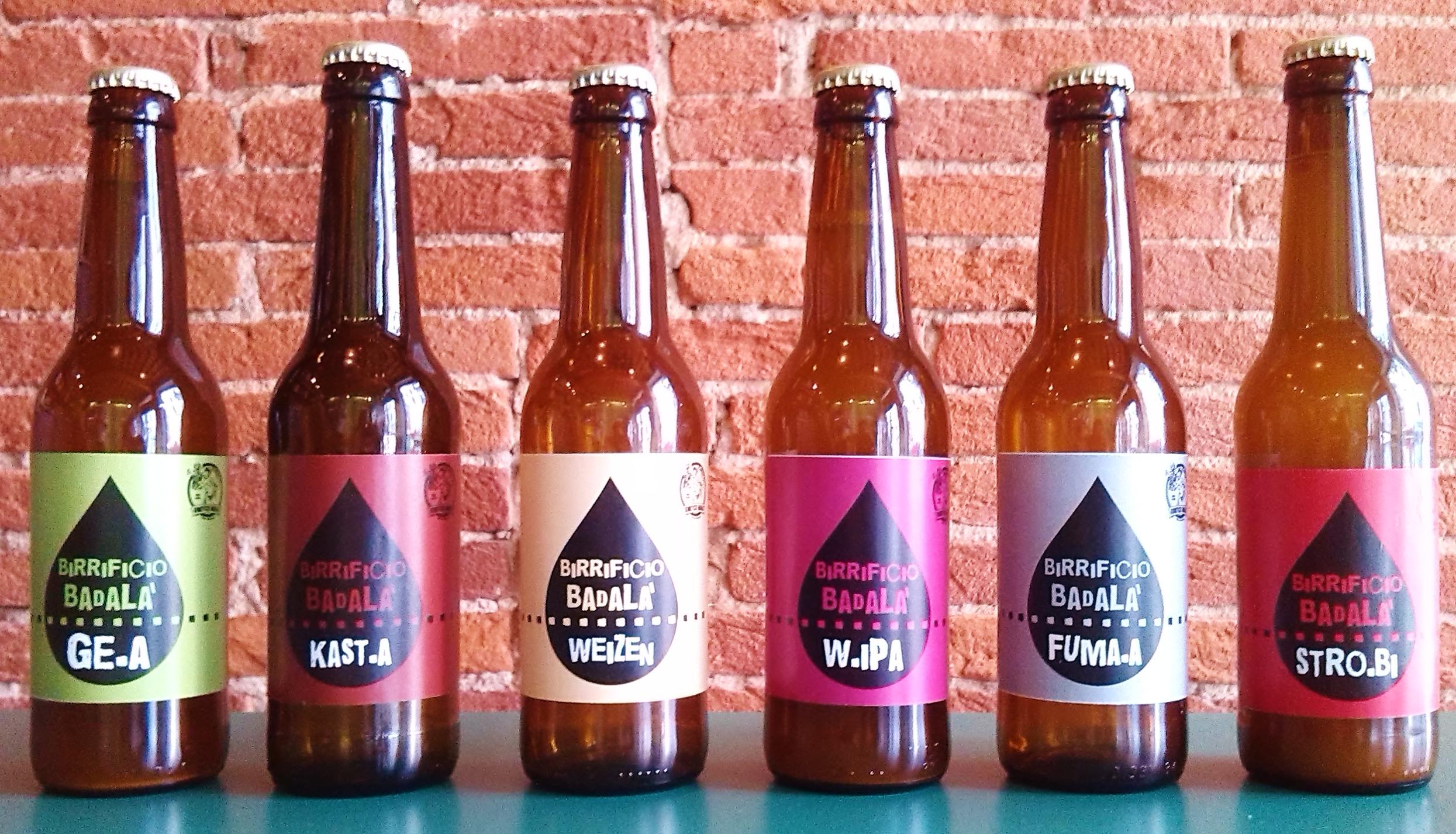 Le bottiglie del Birrificio Badalà - Montemurlo (Prato - Toscana)