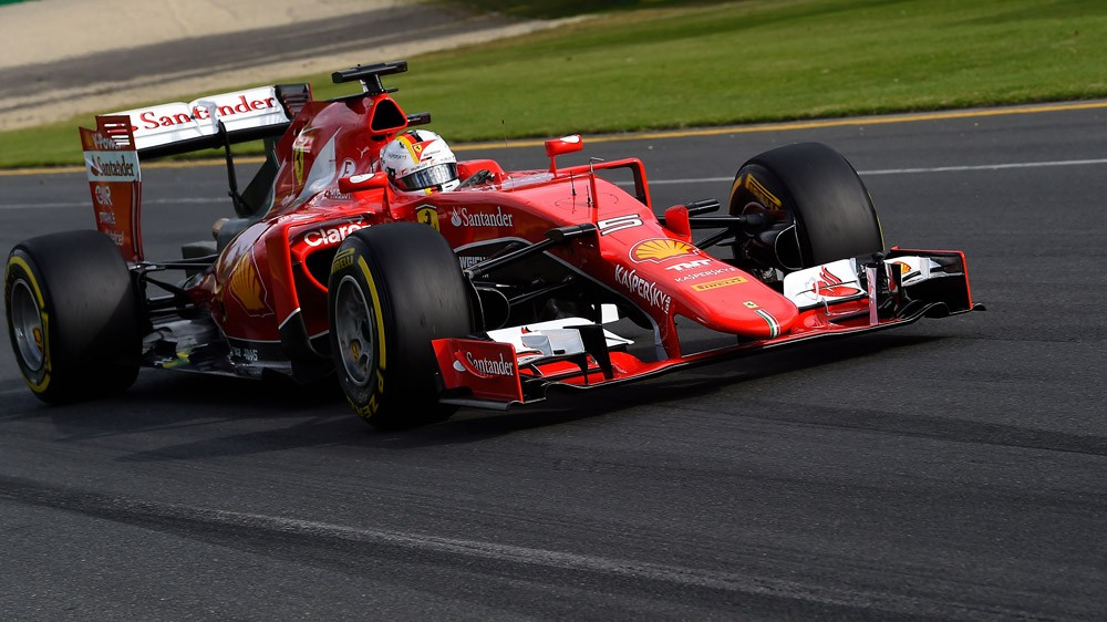 Vettel alla guida della Ferrari in Australia