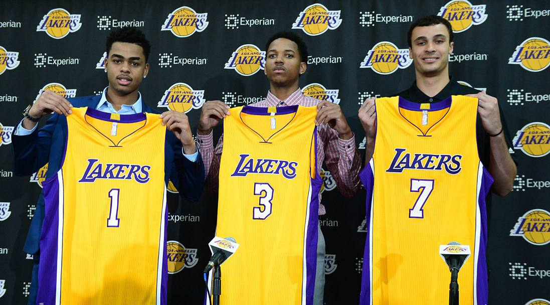 D'Angelo Russell, Anthony Brown e Larry Nance