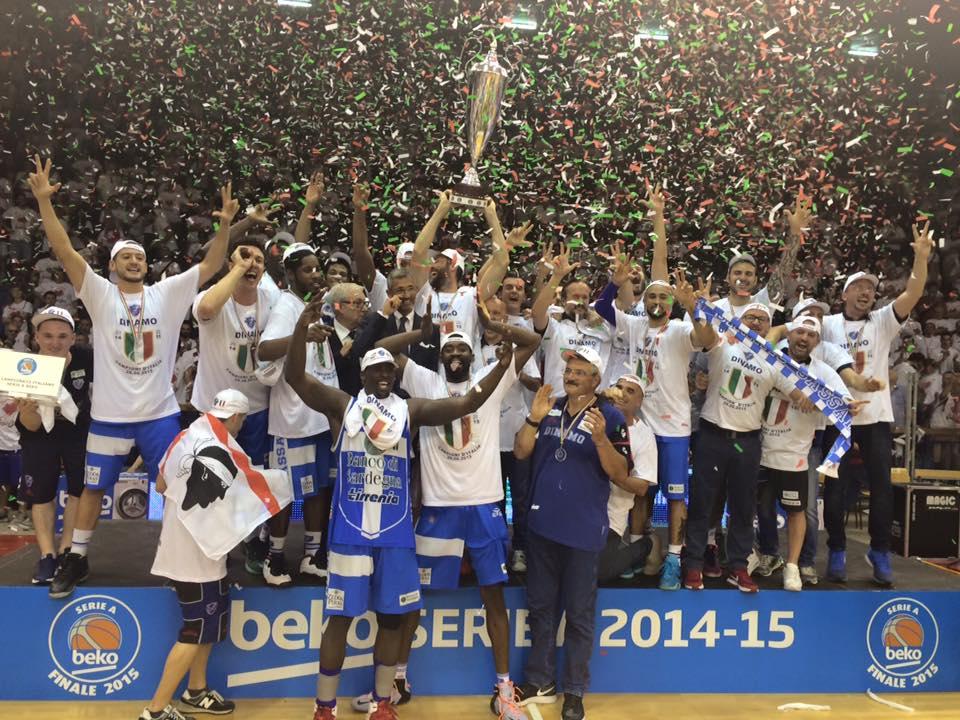 Basket, Scudetto 2015: la #Dinamo #Sassari è campione d'Italia