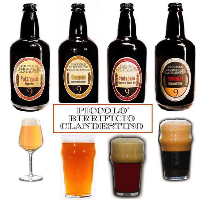 Le birre del Piccolo Birrificio Clandestino