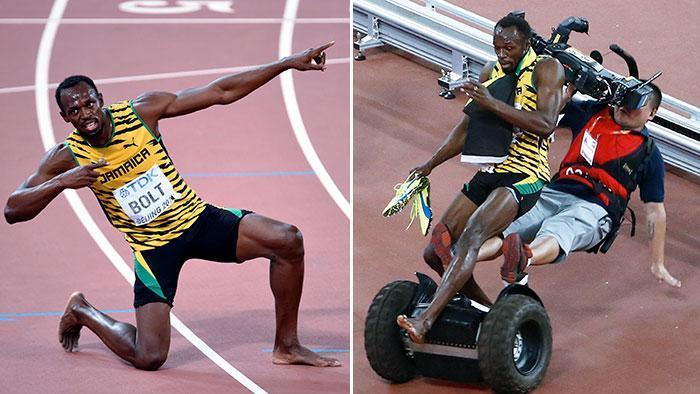 Bolt investito dal cameraman